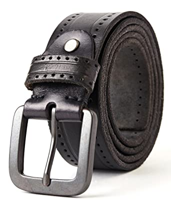 0bfdc00c387e18 3ZHIYI Herren Freizeit Gürtel aus 100% echtem Leder 38mm breit 4mm stark