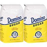 DOMINO GRANULATED PURE CANE WHITE SUGAR 4 LB BAG (2-Pack)
