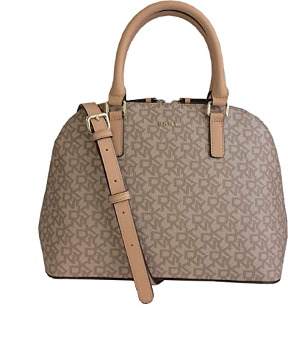 DKNY Coated Logo Medium Shoulder Satchel Bag with Removable Cross Body Strap 8108ddbf74be0