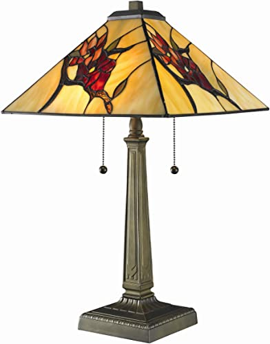 Tiffany Mission with Floral Motif Table Lamp