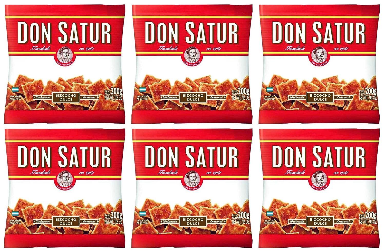 Don Satur Bizcochos Dulce 200gr 6 Pack