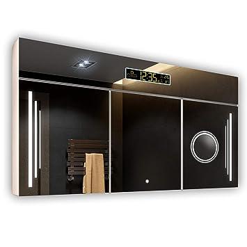 FORAM Armoire pour Salle de Bain avec Miroir et Éclairage LED 100 x ...