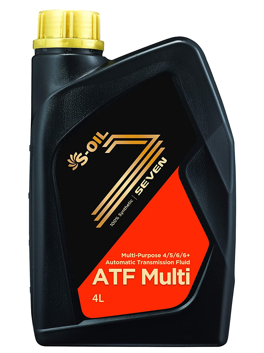 S-Oil Seven 100% Full Synthetic Automatic Transmission Fluid - 4 Liter (4.22 Quarts) Multi Purpose S-OIL TOTAL LUBRICANTS S-OIL 7 ATFMU