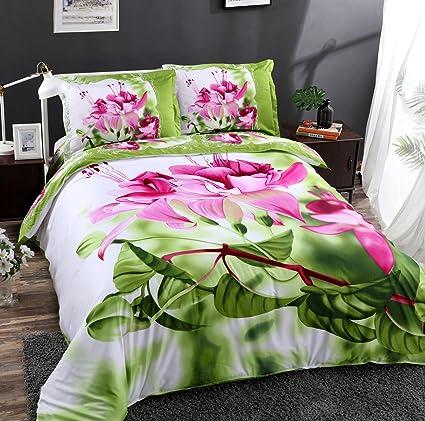 Amazon beddinginn elegant pink flower 4pcs 3d bedding sets 100 beddinginn elegant pink flower 4pcs 3d bedding sets 100 cotton floral design duvet cover set mightylinksfo