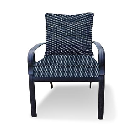Amazon Com Thomas Collection Outdoor Cushions Indigo Blue Patio