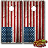 CL0001 American Flag Distressed CORNHOLE LAMINATED DECAL WRAP SET Decals Board Boards Vinyl Sticker Stickers Bean Bag Game Wraps Vinyl Graphic Tint Image Corn Hole
