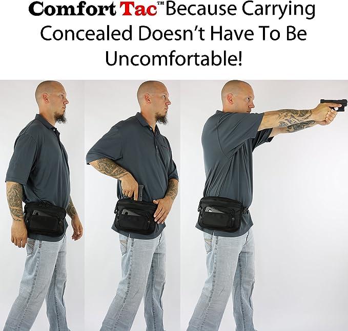 ComfortTac - Riñonera con funda de pistola. Se adapta a Glock 42 ...