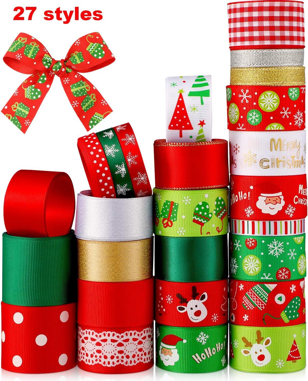 Christmas Christmas Grosgrain Wrapping Supplies Snowflake Ribbons Xmas Decor