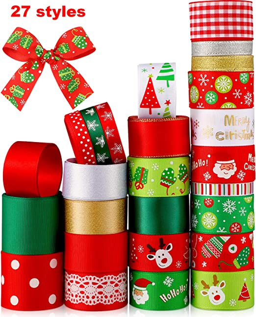 Red Grosgrain Ribbon Wedding Party Decor Wrapping Xmas Apparel Sewing Craft