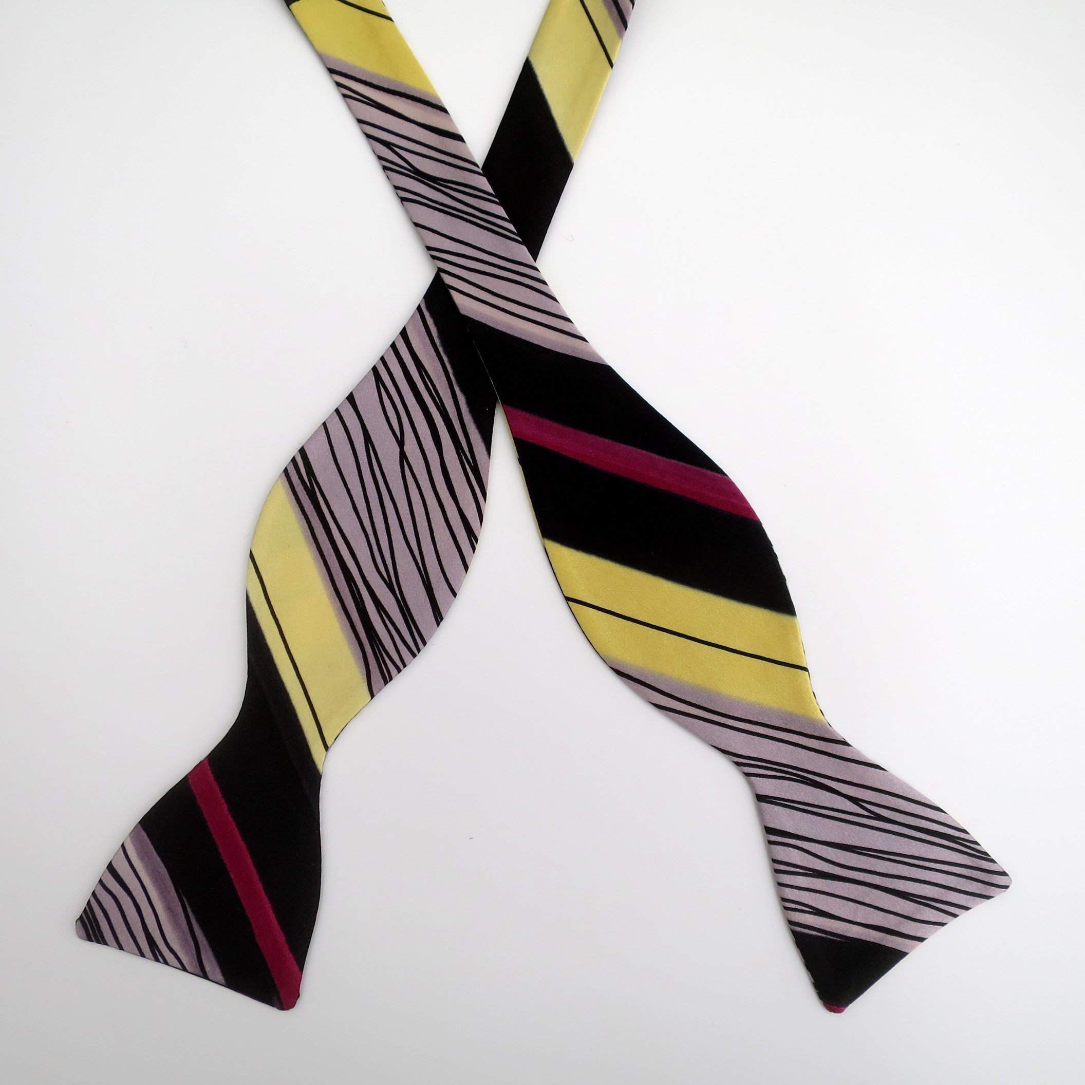 100% Silk Hand-Painted Hand-Made Men's Self Tie Bow Tie ''Berlin'' Art to Wear by Murphyties