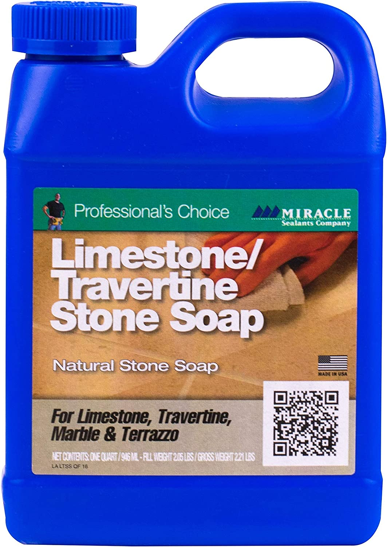 Miracle Sealants LTSS6QT Limestone & Travertine Stone Soap Cleaners, Quart