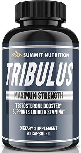 Tribulus Terrestris Extract Powder 1950 MG – Testosterone Booster with Estrogen Blocker – 45 Steroidal Saponins 1950 MG – Summit Nutrition USA – 90 Capsules