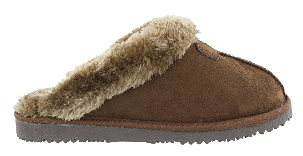 79abaa0a69ffd Ella Women s Jill Faux Sheepskin Look Fur Lined Memory Foam Mule Slippers   Amazon.co.uk  Shoes   Bags