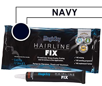 MagicEzy Hairline Fix (Navy Blue) - Boat Gelcoat Crack Repair - Fills And  Colors Fast
