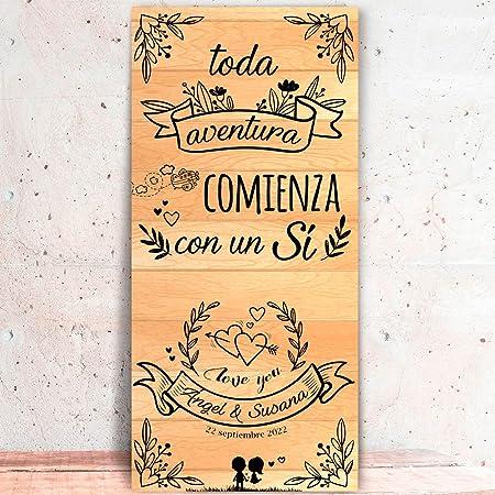 Decoración Boda | Cartel Boda Aventura Claro (Cartón) | 70cm ...