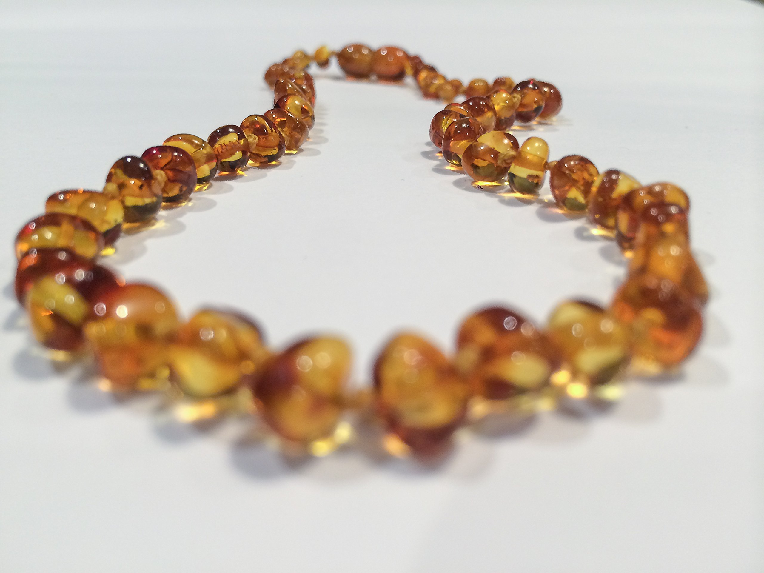 Luxury Baltic Amber Teething Necklace Allergy Asthma Relief Drooling Baby Infant Pain Toddler Teether Drooling fever Organic Highest Quality Maximum Effective Certified Authentic by Baltic Essentials