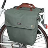 TOURBON Canvas Cycling Bicycle Bike Pannier Rear Seat Bag Rack Trunk (Waterproof, Roll-Up)
