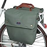 Tourbon Waterproof Canvas Bike Pannier Bag Folding Bicycle Rear Seat Trunk Bag