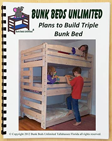 Amazon Com Triple Bunk Bed Diy Woodworking Plan To Build Your Own