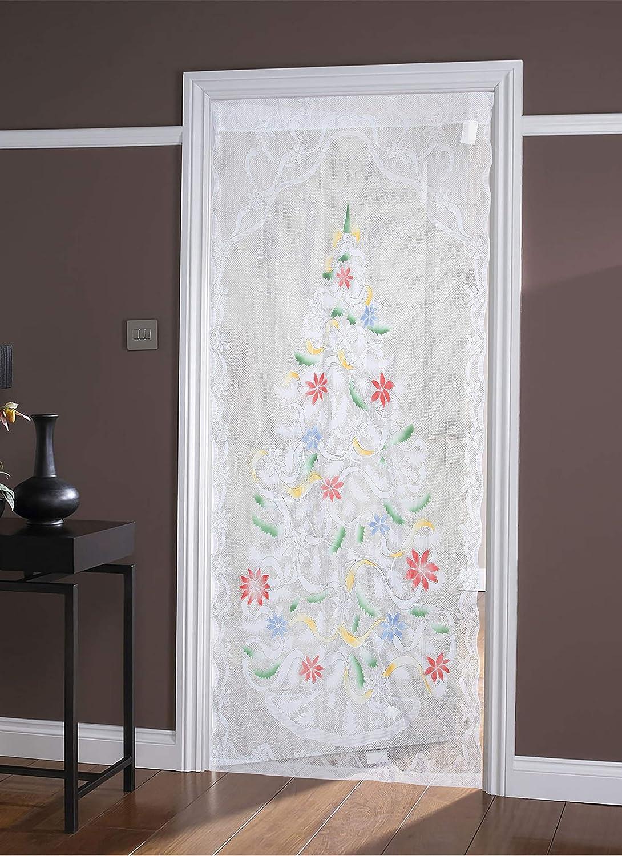 Trenton Gifts Vorhang 102 x 213,4 cm beleuchtet Mehrfarbig B x L Weihnachtsbaum