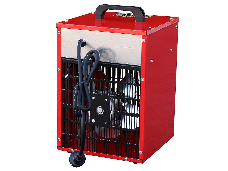 schwenkbar Rotek Elektrischer Rundheizl/üfter HFR-05-400 400V mit 5 kW Heizleistung