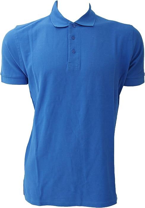422d9912 Jerzees Colours Mens Ultimate Cotton Short Sleeve Polo Shirt (XS) (Azure  Blue): Amazon.co.uk: Clothing