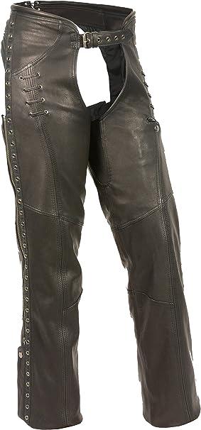 Black, Large Milwaukee Leather Womens Chaps