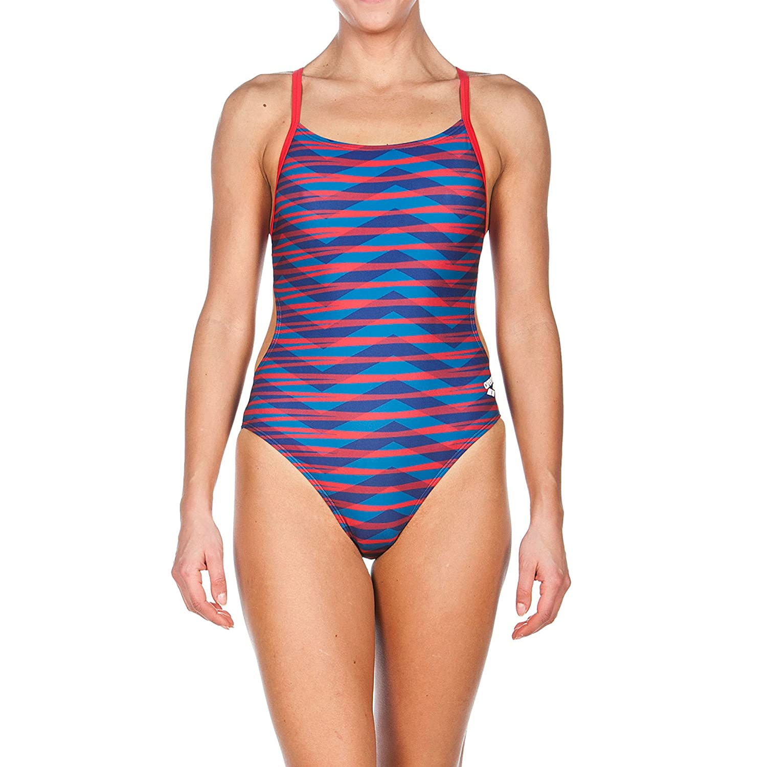 Arena Womens Mimetic Challenge Back One Piece Swimsuit