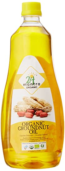 24 Mantra Organic Cold / Expeller Pressed Groundnut Oil, 1L