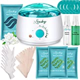 ILansley Waxing Kit for Women Men Coarse Hair Removal with Moisturizing Aloe Formulas Hard Stripless Wax Beads, Relaxing Wax Kit for Legs, Face, Underarm, Bikini, Brazilian