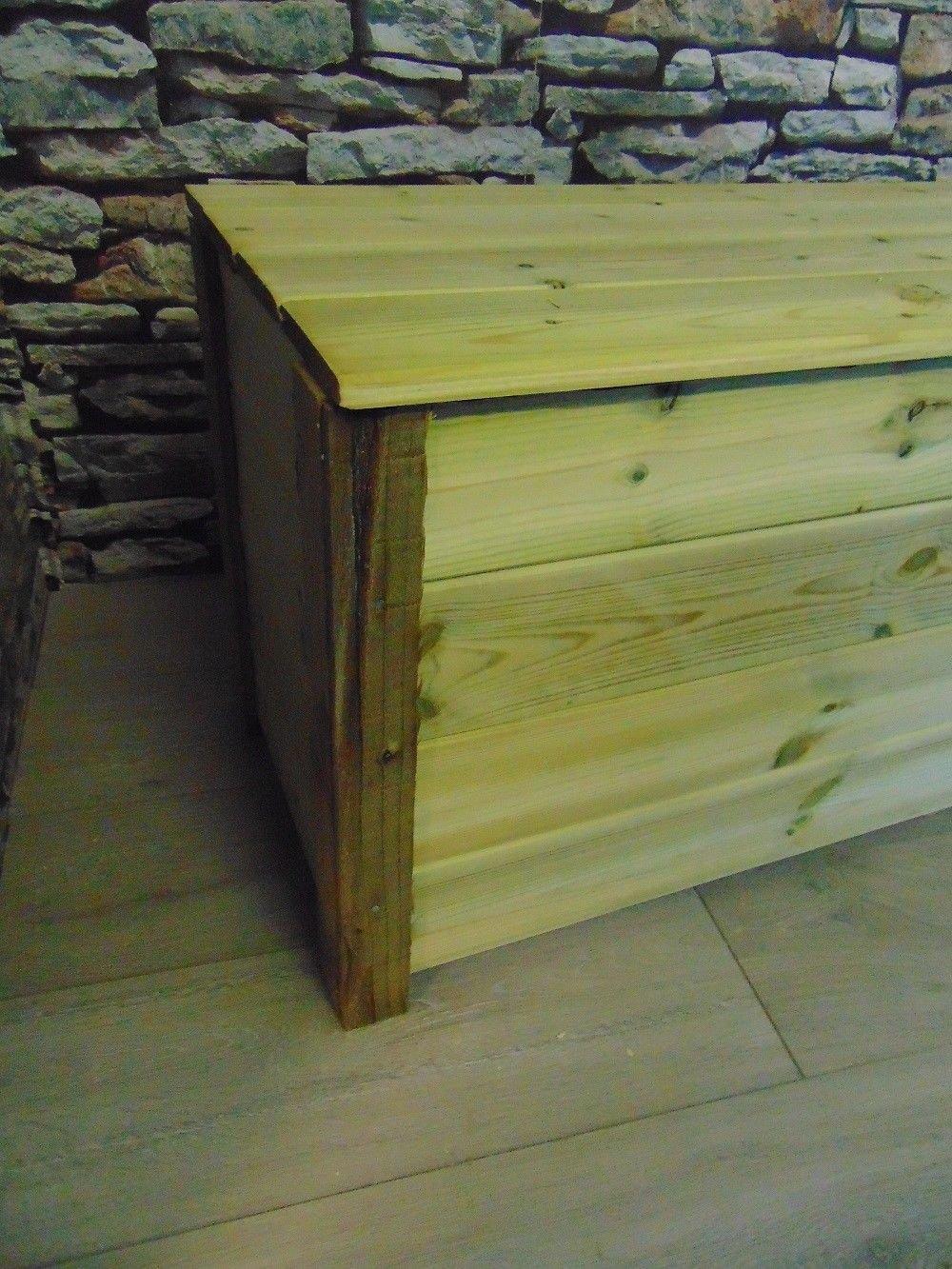 Smileswoodcraft Wooden Garden Storage Bench (120cm (L) x 50cm (H) x 40cm (W))