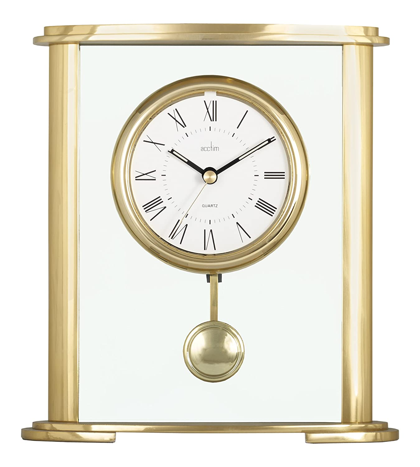 Acctim 36358 Welwyn Mantel Clock, Gold