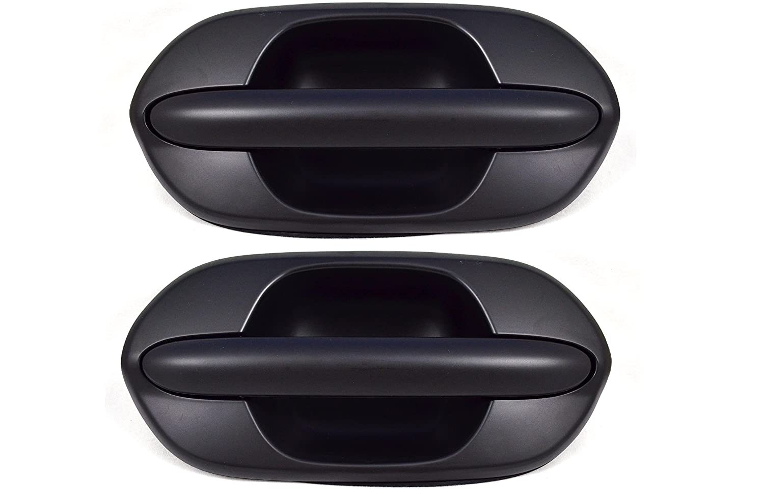PT Auto Warehouse NI-3118P-RP Outer Exterior Outside Door Handle Primed Black Rear Left//Right Pair