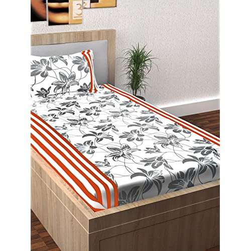 Story@Home Single Bedsheet For Single Bed With 1 Pillow Cover Combo Set    100