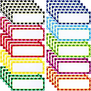Ruisita 50 Pack Magnetic Dry Erase Labels Reusable Name Plates Writable Flexible Magnet Name Tags Magnetic Sticky Labels for Whiteboards Refrigerator, 10 Colors (3 x 1.2 Inch) (Multicolors A)