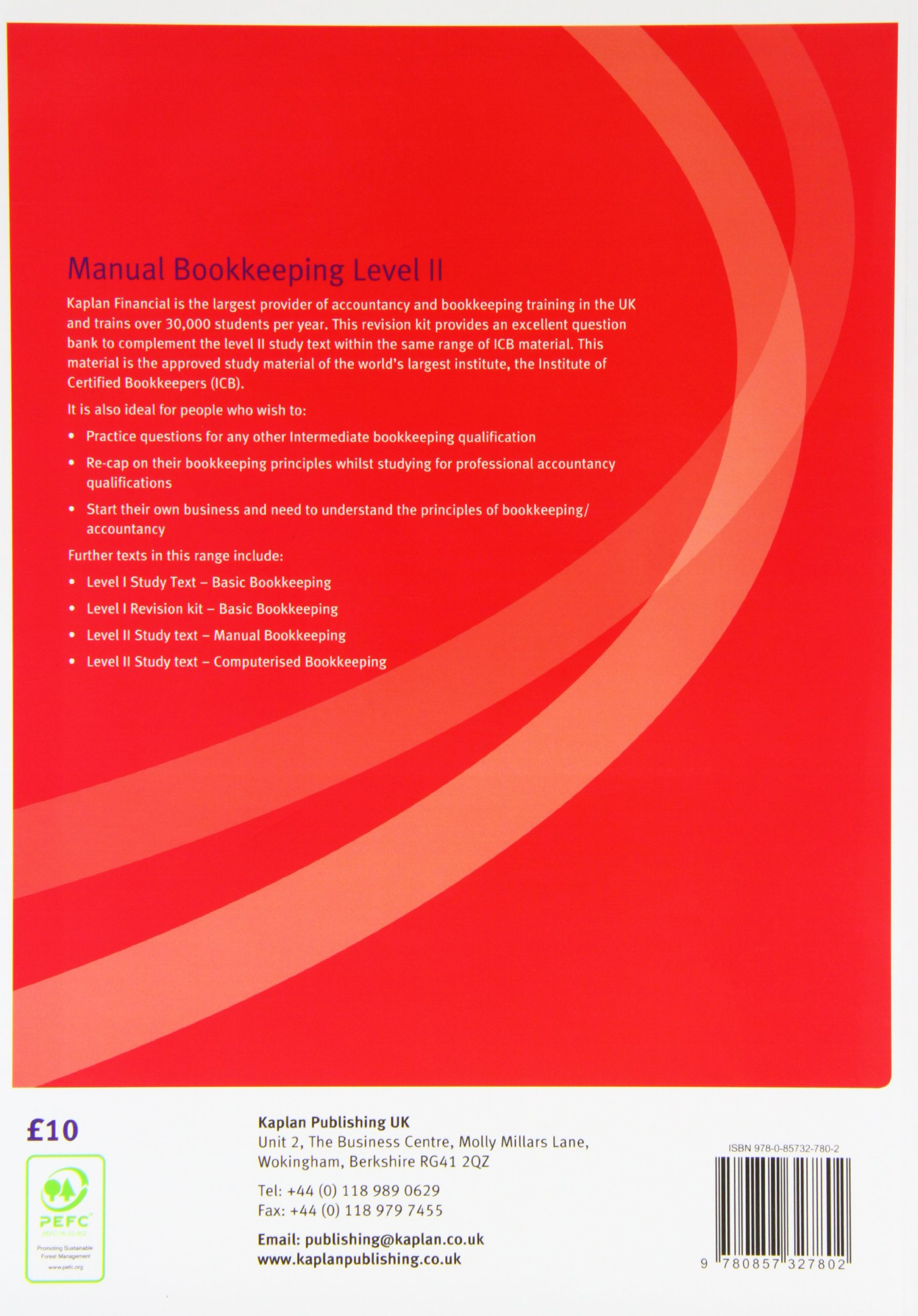 Level II Certificate in Manual Bookkeeping - Kit: Level II (Icb Bookkeeping  Materials): Amazon.co.uk: Icb: 9780857327802: Books