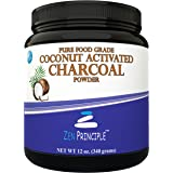 LARGE 12 Oz. Coconut Activated Charcoal Powder. Whitens Teeth, Rejuvenates Skin and Hair, Detox and helps Digestion. Treats Accidental Poisoning, Bug Bites and Wounds. USA-Owned Producers, FREE scoop!