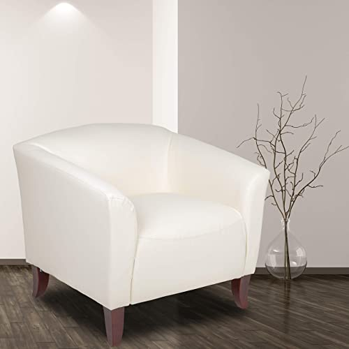 Flash Furniture HERCULES Imperial Series Ivory LeatherSoft Chair