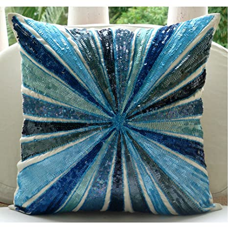 Aqua Illusion - Decorativa Funda de Cojin 30 x 30 cm, Square ...