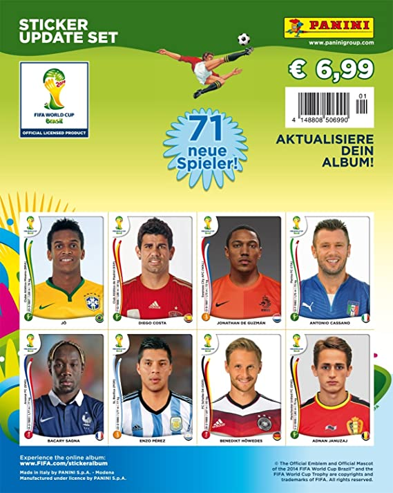 Panini World Cup 2014 Brasil - Set of 71 update stickers, multipack NEW!: Amazon.es: Electrónica