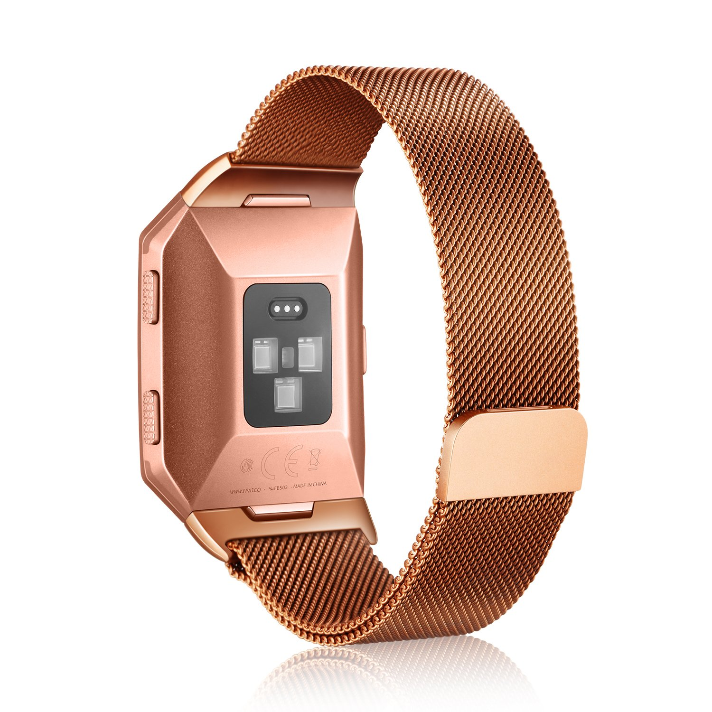 mairui Fitbitイオン交換用メタルMilaneseバンドFitbitアクセサリー完全にマグネット開閉式留め金メッシュループMilaneseステンレススチールブレスレットStrap for Fitbit Ionic Smart Watch  S/M Brass B076BRRZM1