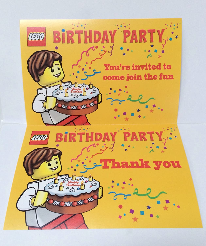 Amazon Lego Birthday Party Invitations