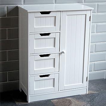 home discount bathroom cupboard 4 drawer 1 door floor standing rh amazon co uk