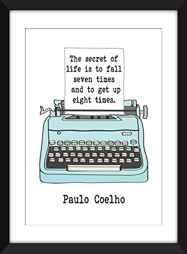 Amazoncom Paulo Coelho The Secret Of Life Quote Unframed Print