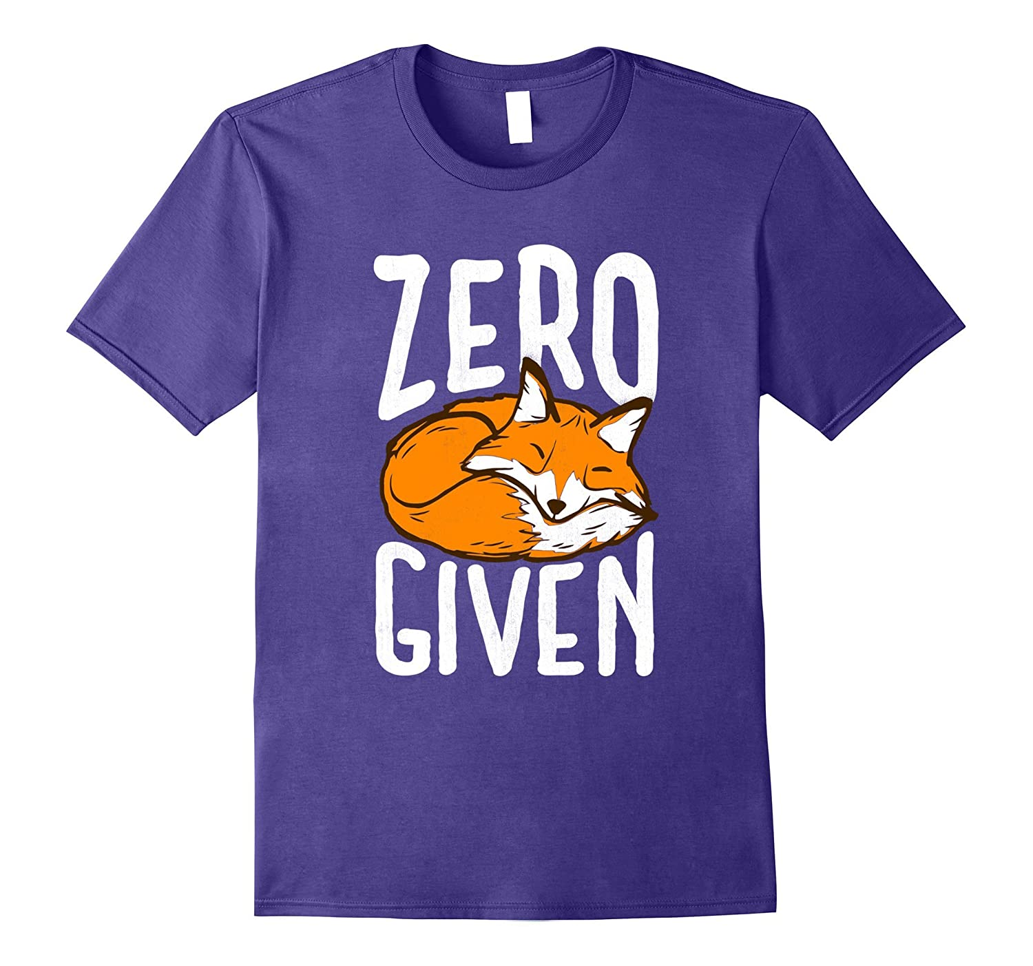 Zero Fox Given - Funny Pun Graphic Birthday Gift T-Shirt-Rose