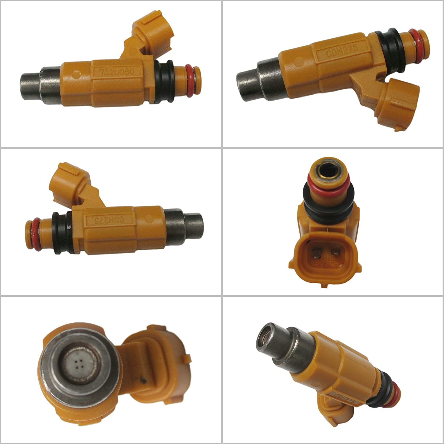 4 x Fuel Injectors for Marine Yamaha F150 Outboard Four Stroke 63P1376100 CDH275 150HP