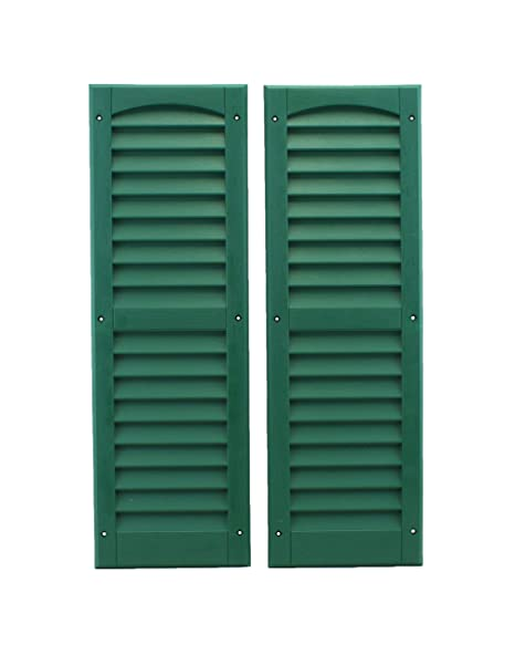 Louvered Shed or Playhouse Shutters Green 9