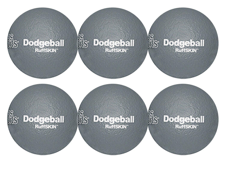 RuffSKIN 6'' Gray Dodgeball-Set of 6 by Palos Sports
