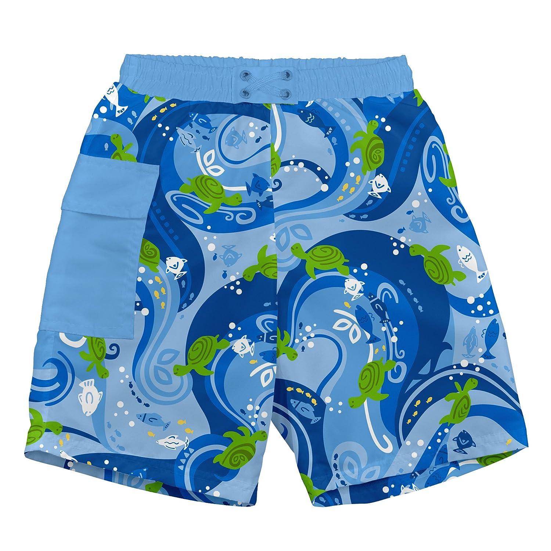 i play. Swim Nappy Trunks Pocket (6-12 Months, Blue Turtle Batik) 722
