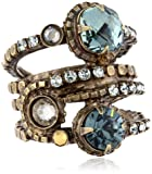 """Sorrelli  """"After Glow"""" Stacked Crystal Ring"""